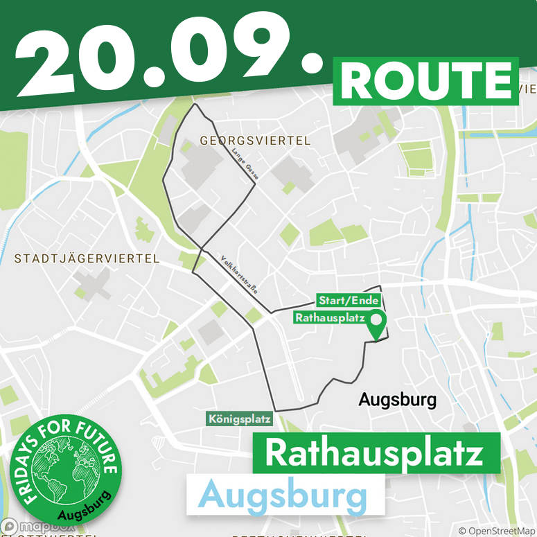 Route zur Demo am 20.09.
